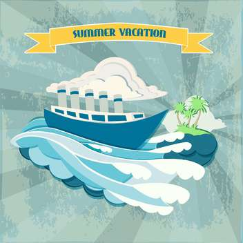 summer vacation holiday background - vector gratuit #134407