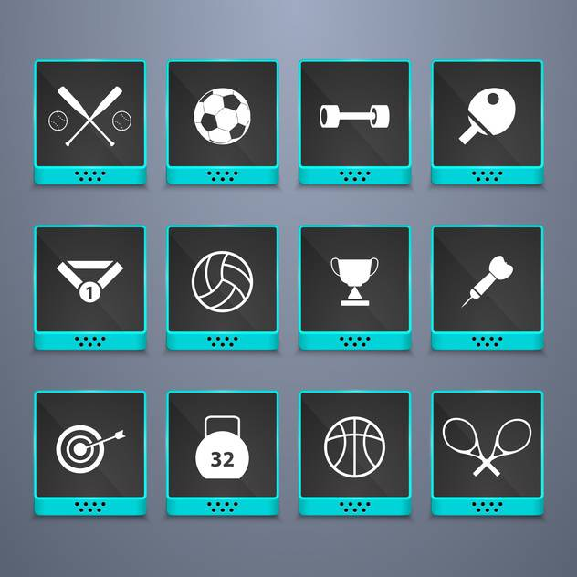 sports web buttons set background - vector #134447 gratis