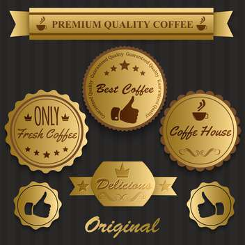 best coffee vintage labels - vector gratuit #134467