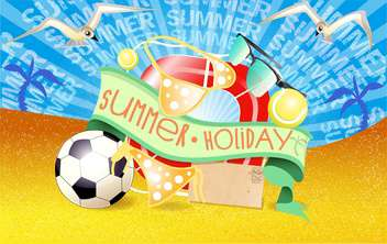summer holiday vacation background - vector gratuit #134477