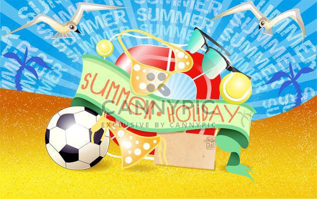 Sommer Urlaub Urlaub background - Kostenloses vector #134477