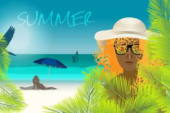 summer holidays vacation background - vector gratuit #134537
