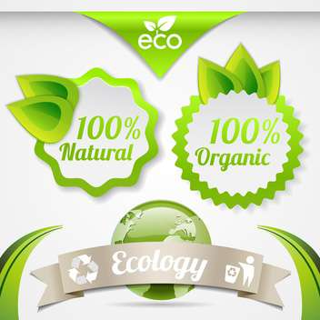 set of eco lifestyle labels - vector #134577 gratis