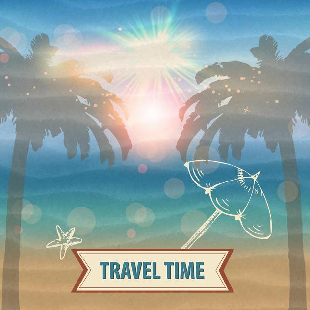 travel time vector background - Free vector #134607