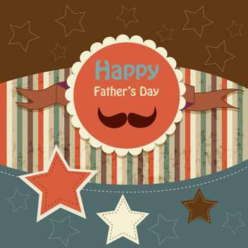 happy fathers day vintage card - vector gratuit #134647