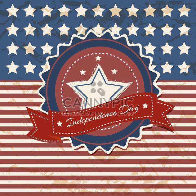 vintage vector independence day poster - Free vector #134657