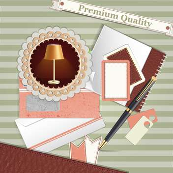 premium quality vintage background - vector gratuit #134677