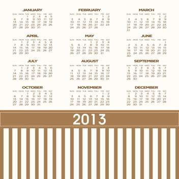 year calendar vector background - бесплатный vector #134697
