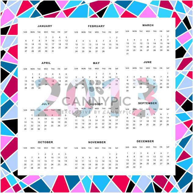 vector year calendar background - Free vector #134707