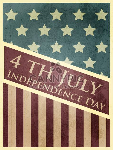 vintage vector independence day background - Free vector #134747