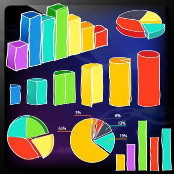 infographics set and information graphics - vector gratuit #134757