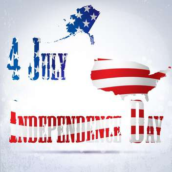 vintage vector independence day background - Free vector #134767