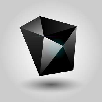 abstract black geometric object - vector gratuit #134797