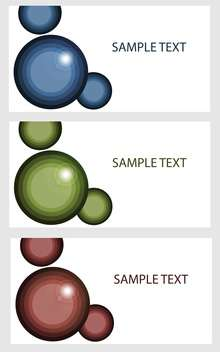 vector banners with colored bubbles - Kostenloses vector #134827