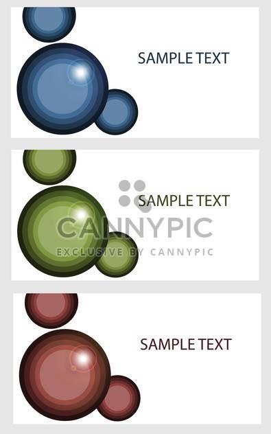 vector banners with colored bubbles - Free vector #134827