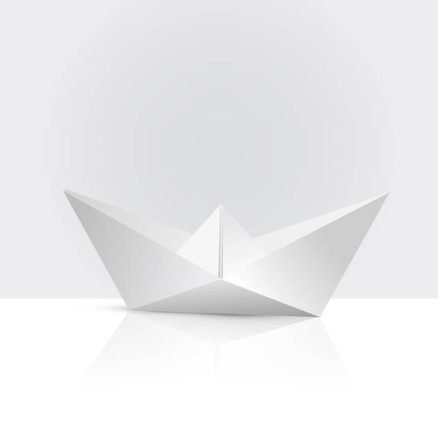vector illustration of paper boat - Free vector #134837