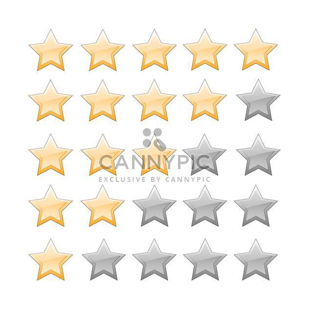 vector set of star glossy buttons - Free vector #134847