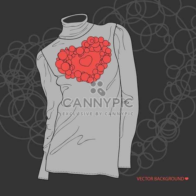 illustration of blouse with valentine heart - Free vector #134907
