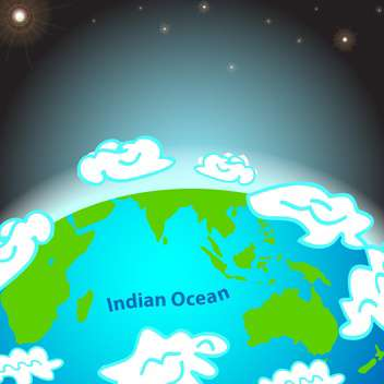 illustration of indian ocean on earth - vector gratuit #134917