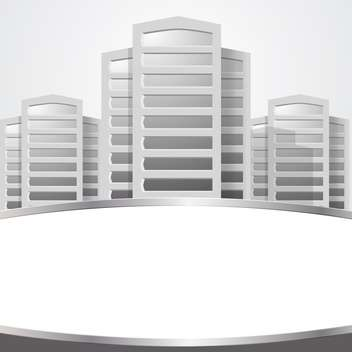 vector of graphical urban cityscape - vector gratuit #134957