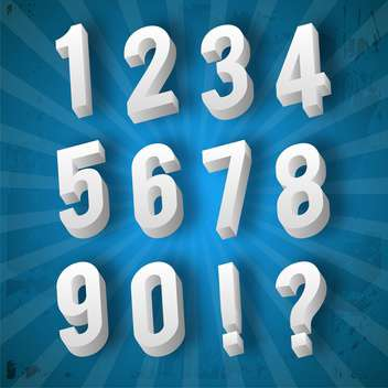 education numbers set vector illustration - Free vector #134977