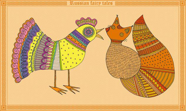 russian fairy tales animals illustration - Free vector #134997