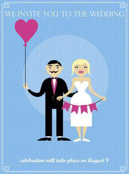 wedding day holiday invitation card background - vector gratuit #135027