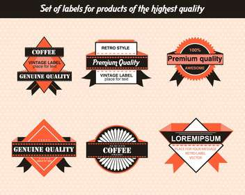 set of labels for products of highest quality - Kostenloses vector #135137