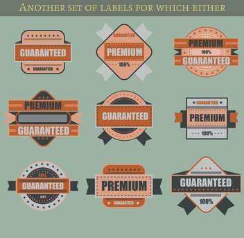 set of retro vector labels and badges background - vector gratuit #135217