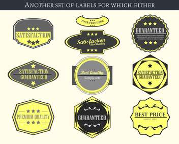 vintage vector labels and badges set background - vector gratuit #135227