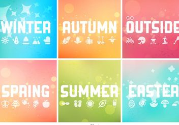Vector Seasonal Backgrounds Collection - Free vector #138657