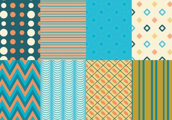 Retro Texture & Pattern Pack - vector #138737 gratis