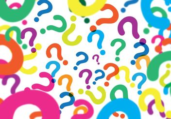 Question Mark Background Vector - Free vector #138747