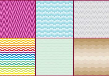 Colorful Zig Zag Pattern Vectors - Free vector #138837