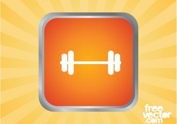 Dumbbell Icon Graphics - Free vector #139047