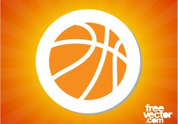 Basketball Sticker - vector gratuit #139077