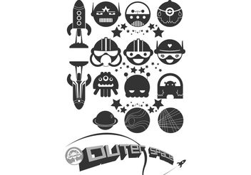 Happy Space Vector Pack - vector #139177 gratis