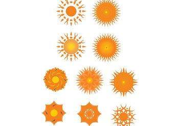 Suns and other motifs - Free vector #139237