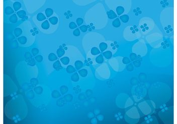 Floral blue vector background - Free vector #139367