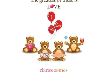 The greatest of these is LOVE - Free vector #139377