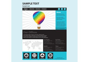 Web Page Vector Template - Free vector #139777