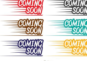 Fast Coming Soon Vectors - vector gratuit #139837