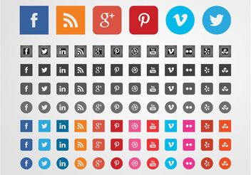 Social Websites Icons - vector gratuit #139857