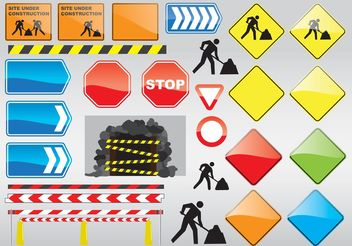 Construction Signs - vector gratuit #139867