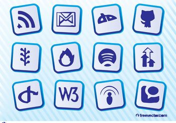 Social Website Vectors - Free vector #139897