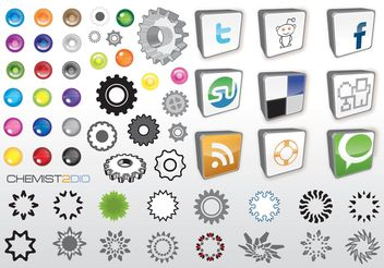 Social Web Vector Icons - бесплатный vector #139917