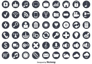 Flat Vector Icon Set - vector gratuit #139937