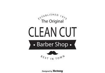 Barber Shop Logo Template - Free vector #140027