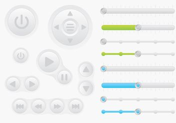 Buttons Interface Vectors - Kostenloses vector #140077