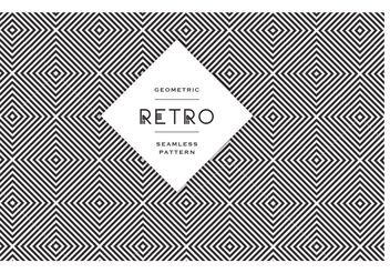 Free Geometric Black And White Vector Patterns - vector gratuit #140107